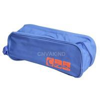 #Cu3 Portable Waterproof Shoe Bag Travel Storage Visual Breathable Tote Bag Blue