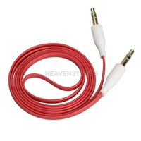 3.5mm 1m Stereo Audio Jack AUX Auxiliary Cable for iPhone iPod MP3 Red  hv3n