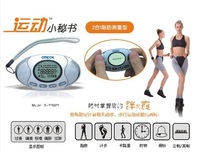 High quality 2 in 1 Pedometer Fat Calorie Meter Analyzer calculator Step Counter Clock Monitor Alarm LCD Display