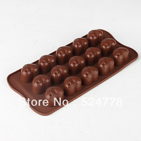 china wholesale- New Heart-shape Silicone Ice Chocolate Cake Jelly Candy Mould Mini Tray Pan#530
