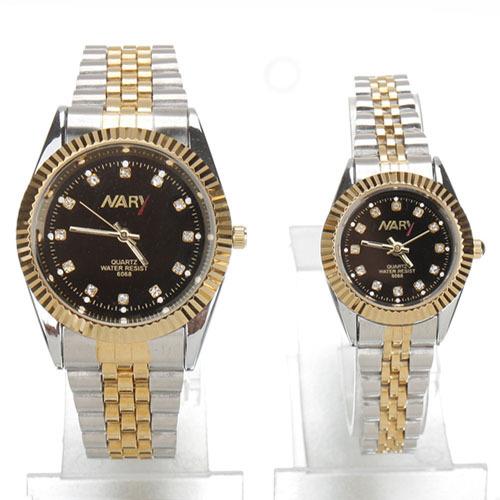 JewelOra jewelry fashion accessory women men fashion watches brand Japan Movt Steel Couple Wrist Watch 1pcs