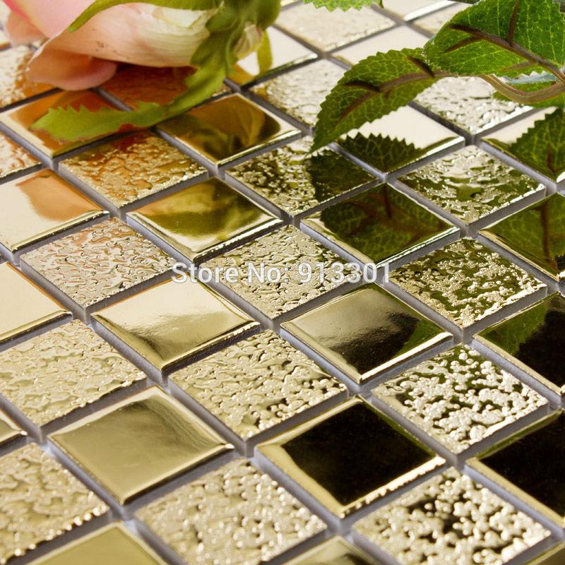 Porcelain mosaic floor tiles