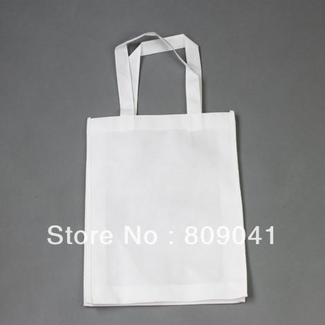 33*26CM White Sublimation Tote Shoulder Shopping Bag Printable 500pcs/lot DHL /fedex free shipping(China (Mainland))