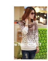 Free shopping 2012 female spring and autumn casual thick long-sleeve sweatshirt outerwear