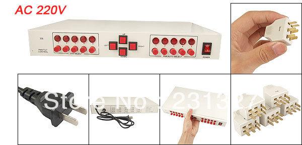 CCTV Camera AC 220V Auto Manual Mode 5 Channels Scanner Pan Tilt Controller(China (Mainland))