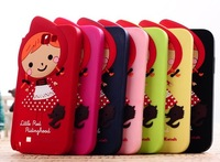 Free Shipping!Cute Girl Cartoon Silicon Case Cover For N7100,Fancy Case For Note 2