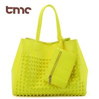TMC 2013 new rivet package stitching flannel bag shoulder bag brand fashion handbag Free Shipping Rivet Messenger Bag JY035