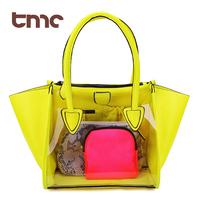 TMC 2013 women's handbag summer Crystal neon candy transparent smiley bag portable one shoulder jelly bag JY047
