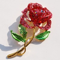 New Fashion Charm Beautiful Flower Multicolored Brooch Women & Girl Party Surprise Gift