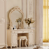 Free Shipping Romantic fashion dresser french dressing table princess dresser white rustic dresser