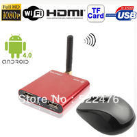 Mini X 1080P Full HD Android 4.0 TV Box with WIFI + HDMI 1.3+ USB OTG Interface, Support TF Card and USB Flash Disk, Red -14