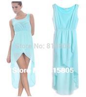 New 2014 Fashion Women Chiffon Dress Long Maxi Dresses Mint Green Brand Casual Dresses Women Winter Dress Free Shipping