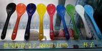 Ceramic coffee spoon colored glaze spoon ceramic spoon cup