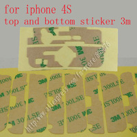 100set/lot  Touch Screen Digitizer Adhesive Strips Top and Bottom Sticker Kit  for iPhone 4S original 3m LSE Free shipping