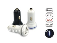 Newest 3PCS Dual USB Car Charger  for mobile phone hot-sale EB-iPUC202
