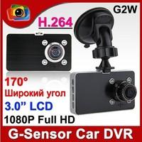 3.0 Inch LCD Screen G2W Full HD 1080P SOS Car Video Recorder H.264 Dash DVR IR Night Vision 170 Degree Wide Angle G-Sensor