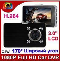 2013 New Blackview G2W Car DVR Full HD 1080P The Registrar 3.0'' Screen Camera Video Recorder Car H.264 with G-sensor Car Cam