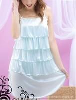 Women's summer sexy cake lace sleepwear lounge princess spaghetti strap nightgown