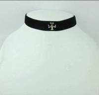 Black simple cross collar fashion necklace accessories  for lolita princess dress jewelry