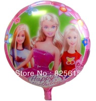 Hot sale!!! Free shipping 100pcs  princess balloon foil balloon helium balloon the girls favorite balloon