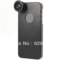 100% GUARANTEE  Fish Eye Fisheye Camera Lens With Black Back Case For iPhone 5 5G