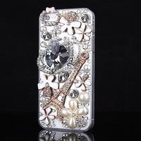 Deluxe 3D Bling Handmade Heart Diamond Rhinestone Case Cover For iPhone 4 4S 5