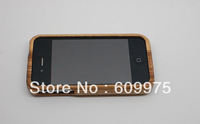 Natural Bamboo Wood Wooden Case Hard Back Case Cover Protector for iPhone 4 4S free shipping