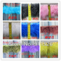 10 yard/Lot Marabou Feather Trim Fluffy Per Yard Height 3'' 10 kinds of color choice  FREE SHIPPING