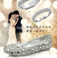 Star wedding shoes rhinestone flat red white wedding shoes flat heel crystalpearl and diamond shoes plus size wedding shoes