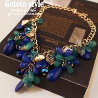 Gem vintage short necklace design chain female jewelry