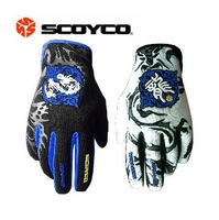 Comfortable knight gloves motorcycle off-road summer racing gloves personalized two-color mx46