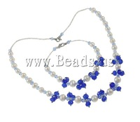 Free shipping!!!Natural Cultured Freshwater Pearl Jewelry Sets,New Arrival, bracelet & necklace