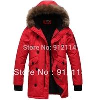 2014 new winter  korean style large fur collar hoodies coats for men,men's hooded windbreaker, freeshipping,M-XXL,C007
