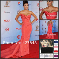 Hot Sale Scoop Criss Cross Ruffle Sheath Taffeta Red Carpet Celebrity Evening Dress Kim Kardashian Dress