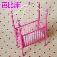 Free shipping girl birthday gift Doll accessory Princess bed For Barbie Dolls Toy hot sale BBWWPJ0007