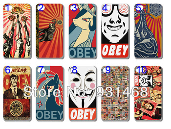 new  case for iphone 4 4G 4S for iphone 5 5th OBEY  plastic black hard back cover +free shipping