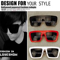 Fashion vintage sunglasses male sunglasses star style Women big box sunglasses