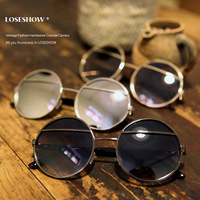 2013 vintage round sunglasses fashion sunglasses metal half frame glasses taiyangjing