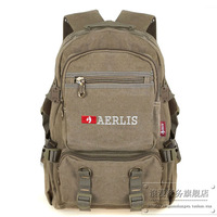 Aerlis canvas laptop backpack  for ipad   laptop bag man bag fashion bag school bag