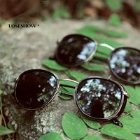2013 women's sunglasses vintage glasses round box sunglasses male steam punk fashion summer