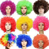Wig fashion short hair wig multicolour afro fans
