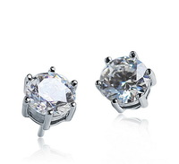 Marquise-cut 6MM 1Carat Top Quality Swiss CZ Diamond Stud Earrings For Women Made With Swarovski Elements Crystal N8063