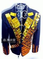 Male ds gold royal blazer geometry mirror