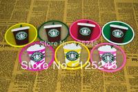 Starbucks Silicone cup mat mug coaster 3 styles  6pcs/lot free shipping