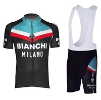 2013 Hot Sale Bianchi  Outdoor sport  Cycling Jersey /  Bike Wear shirt  With Bib Shorts Sets / Suite Size :S~XXXL