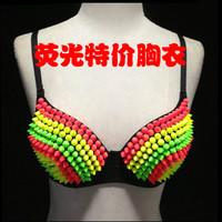 2013 ds clothes neon multicolour bra sparkling diamond bra 81
