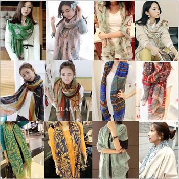 (Min Order $10)2014 new scarf shawl cotton texture over a range of wind Korean street shooting star scarves mixed colors