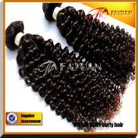 Indian curly hair, virgin curly hair weft, natural color human hair extensions, 2 pieces lot