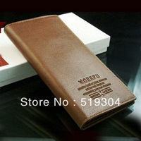Free Shipping Wholesale Genuine PU Leather Long Design Men's Wallet High Quality Cheap Male Purse