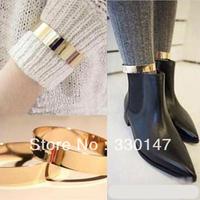 2015 Tornozeleira Femininas Free Shipping Fashion 2 Pcs/ Pair Punk Flat Mirror Wide Metal Anklet Ankle Leg Foot Cuff Hot New B.f